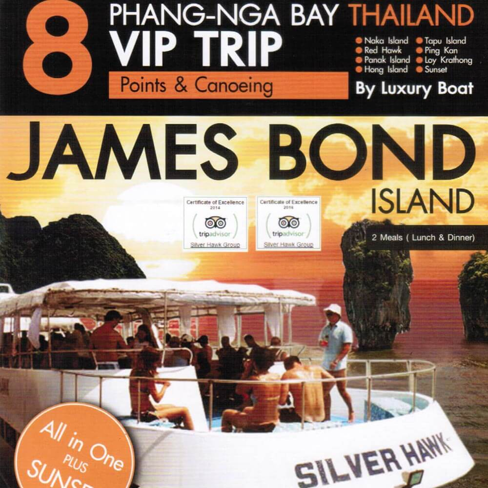 James Bond Island Phang Nga Bay VIP Tour 8 Points Sunset