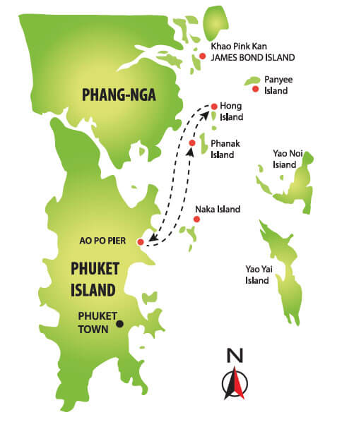 Paket Tour Phang Nga Bay Sunset Dinner Tour by Big Boat