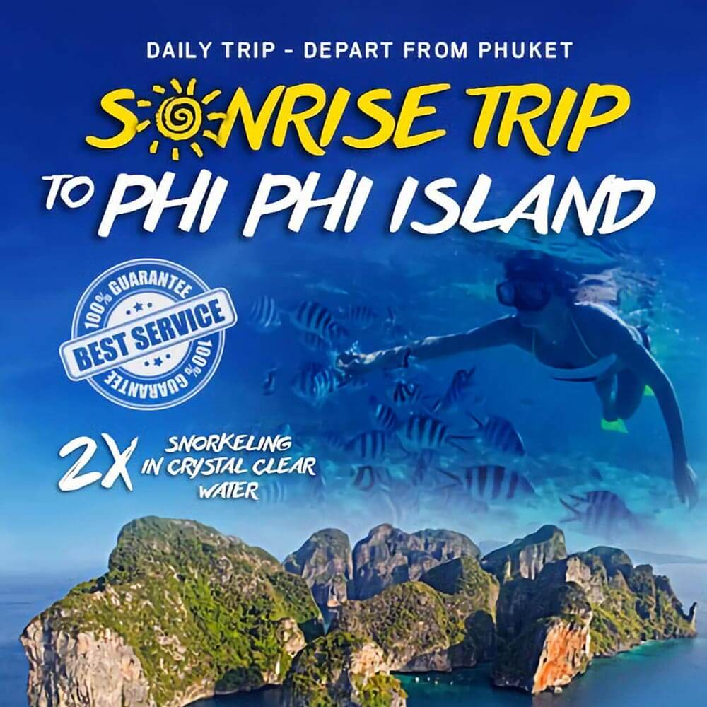 Phi Phi Islands Sunrise Tour Plus Bamboo Island by Speedboat